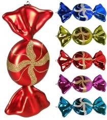Новогодняя игрушка конфета 2 шт 20 см Snowmen Е91343
