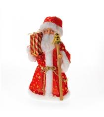 Дед мороз с посохом 25 см Snowmen Е92070
