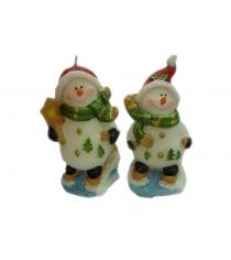 Новогодняя свеча снеговик 11 см Snowmen Е93228