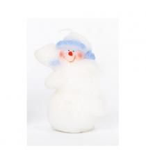 Новогодняя свеча снеговичок белый 10 см Snowmen Е93244