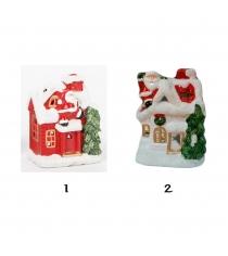 Новогодний подсвечник для чайной свечи домик Snowmen Е93288