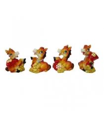 Новогодняя фигурная игрушка лошадь с мешком золота 8 см Snowmen Е94072