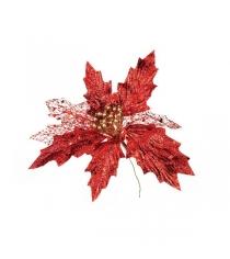Новогоднее украшение красный цветок Snowmen Е94202