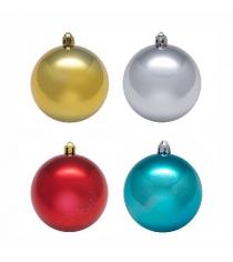 Набор из 4 елочных игрушек разноцветные шары 5 см Snowmen Е94229