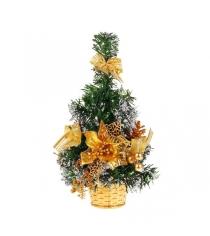 Новогодняя елка с инеем и украшениями в корзине 51 см Snowmen Е94375