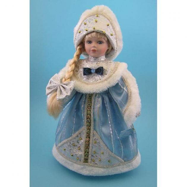 Новогодняя фигурная игрушка из керамики снегурочка 30 см Snowmen Е94750