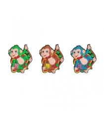 Магнит новогодний символ обезьянка Snowmen Е96077