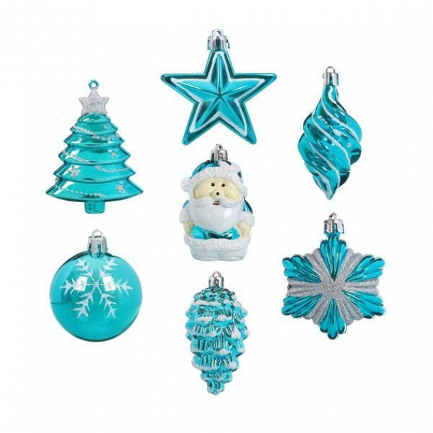 Набор из 7 елочных украшений голубой Snowmen Е96145