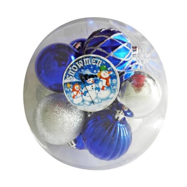 Набор из 10 ти елочных украшений шар ассорти 7 см Snowmen Е96148