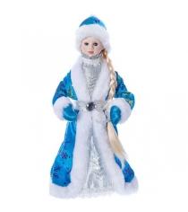 Кукла под елку снегурочка голубая шуба 30 см Snowmen Е96415