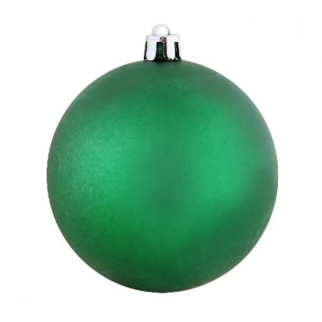 Елочный матовый шар зеленый 15 см Snowmen ЕК0033