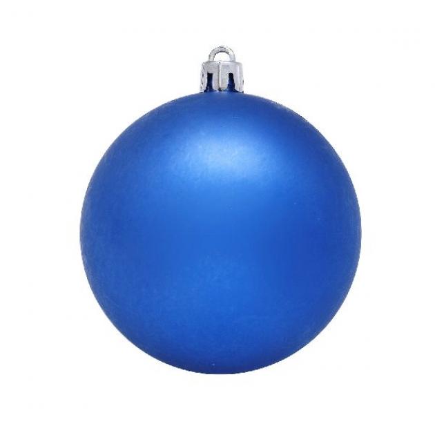 Новогодний шар синий 20 см Snowmen ЕК0052