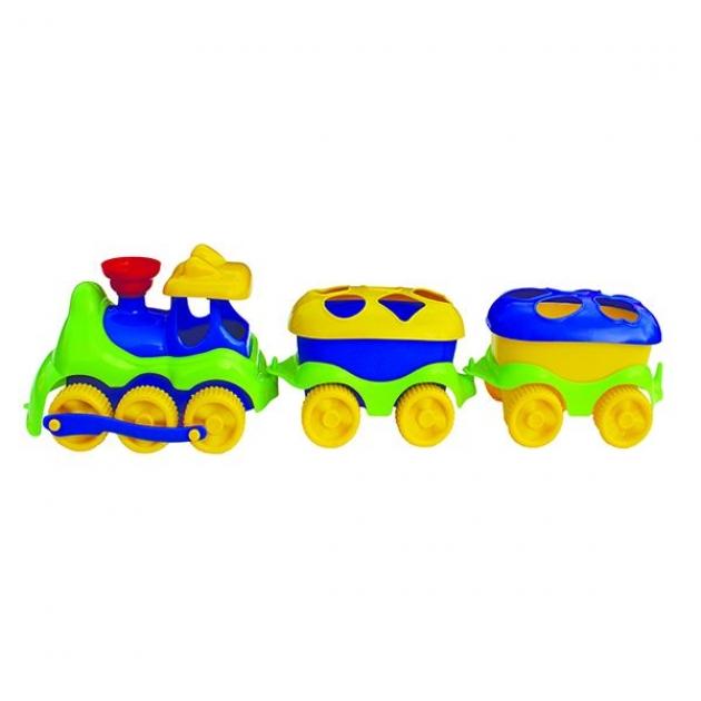 Игрушка сортер паровозик с логическими фигурами Совтехстром Р71238