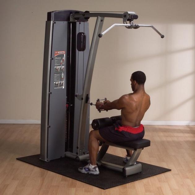 Двухпозиционный тренажер для спины: вертикальная горизонтальная тяга Body-Solid DLAT-SF