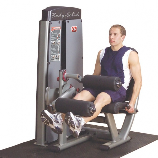 Двухпозиционный тренажер сгибание разгибание ног сидя Body-Solid DLEC-SF
