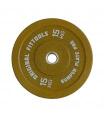 Диск бамперный 15 кг желтый Original Fit Tools FT-BPY-15