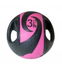 Мяч тренировочный медицинбол с хватами 3 кг Original Fit Tools FT-DHMB-03