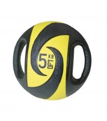 Мяч тренировочный медицинбол с хватами 5 кг Original Fit Tools FT-DHMB-05