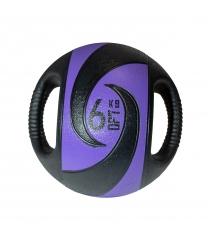 Мяч тренировочный медицинбол с хватами 6 кг Original Fit Tools FT-DHMB-06