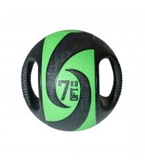 Мяч тренировочный медицинбол с хватами 7 кг Original Fit Tools FT-DHMB-07