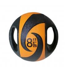 Мяч тренировочный медицинбол с хватами 8 кг Original Fit Tools FT-DHMB-08