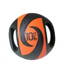 Мяч тренировочный медицинбол с хватами 10 кг Original Fit Tools FT-DHMB-10