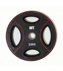 Диск для штанги олимпийский полиуретановый 25 кг Original Fit Tools FT-DPU-25