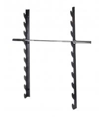 Держатель для 10 олимпийских грифов настенный горизонтальный Original Fit Tools FT-FWH-10