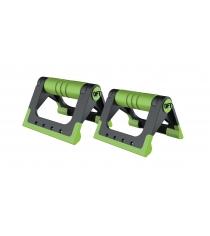 Упоры для отжиманий складные черно зеленые Original Fit Tools FT-PUB-GN