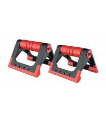 Упоры для отжиманий складные черно красные Original Fit Tools FT-PUB-RD