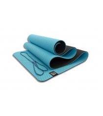 Мат для йоги 6 мм двухслойный перфорированный голубой Original Fit Tools FT-YGM6-3DT-SKYBLUE