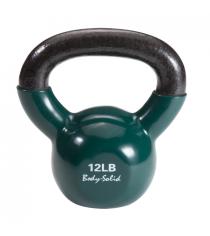 Гиря 5 4 кг 12lb обрезиненная темно зеленая Body Solid KBV12