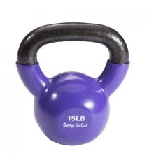Гиря 6 8 кг 15lb обрезиненная фиолетовая Body Solid KBV15