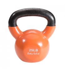Гиря 11 3 кг 25lb обрезиненная оранжевая Body Solid KBV25
