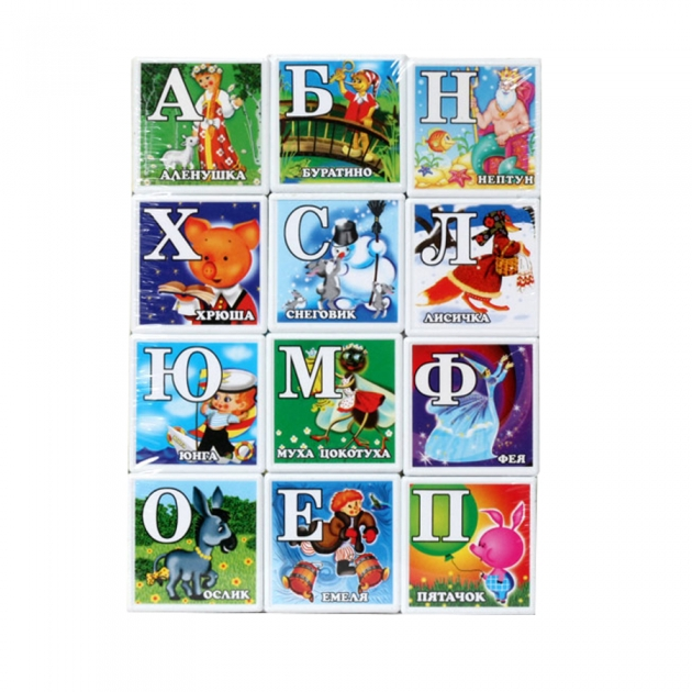 Кубики азбука со сказками Stellar 703
