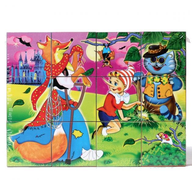 Кубики в картинках 10 буратино 12 шт Стеллар Р62247