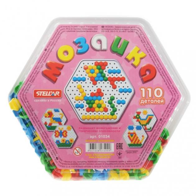 Мозаика в шестигранной коробке 110 деталей Стеллар Р62275