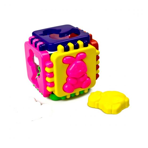 Логический сортер куб веселые зверята Стеллар Р62306