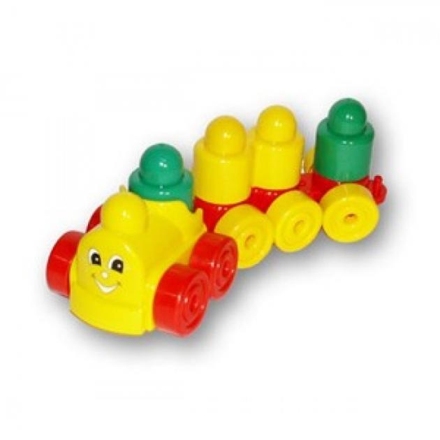 Пластиковый конструктор для малышей колобок с паровозиком 16 Stellar 3013
