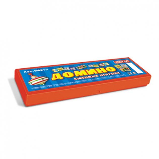 Домино в футляре любимые игрушки Стеллар Р62224