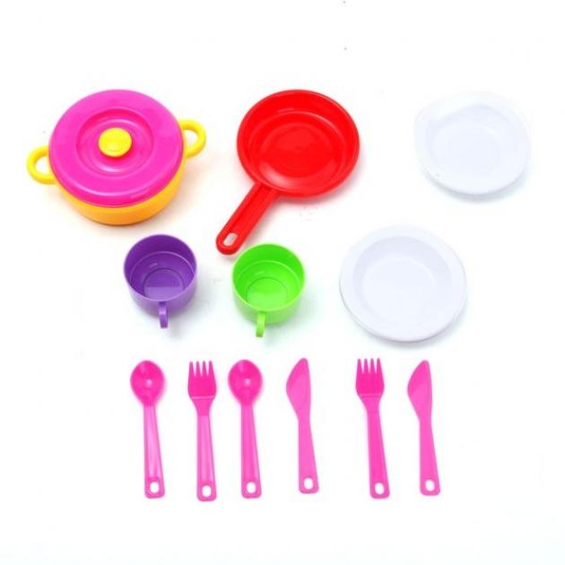 Набор детской посудки 2 12 предметов Стеллар Р62451