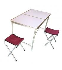 Набор Evrosport стол и 2 стульчика для пикника PT-019