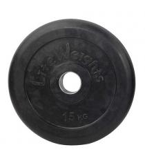 Диск обрезиненный черный Lite Weights d-51 15кг RJ1050