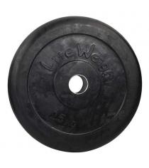 Диск обрезиненный черный Lite Weights d-51 25кг RJ1050