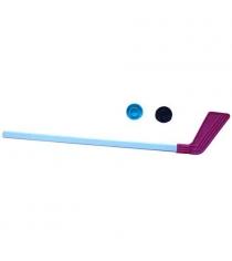 Клюшка детская Evrosport хоккейная 80 см и 2 шайбы КХ-1-55
