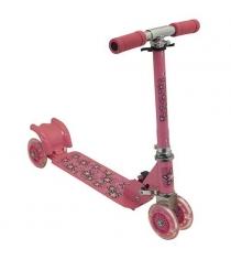 Самокат Charmingsports четырехколесный розовый CMS010
