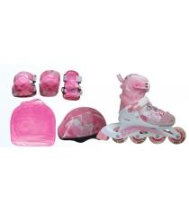 Набор Action ролики, защита, шлем размер 26-29 PW-999
