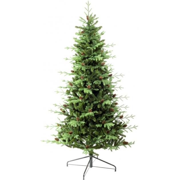 Ель искусственная Царь елка Европейская с шишками 210 см ЕВШ-210