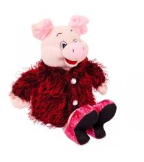 Мягкая игрушка свинка в розовых туфлях 17 см Teddy toys 19533