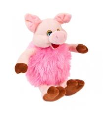 Мягкая игрушка свинка розовая 17 см Teddy toys 19583